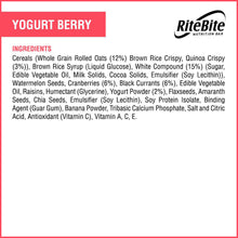 Load image into Gallery viewer, RiteBite Yogurt Berry Bar - Pack of 6