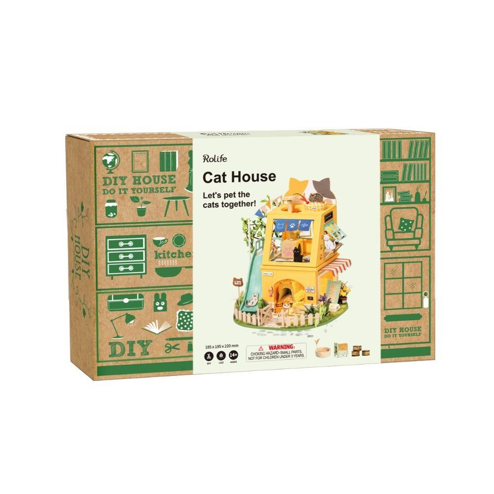 Rolife DIY Miniature Dollhouse - Cat House DG149
