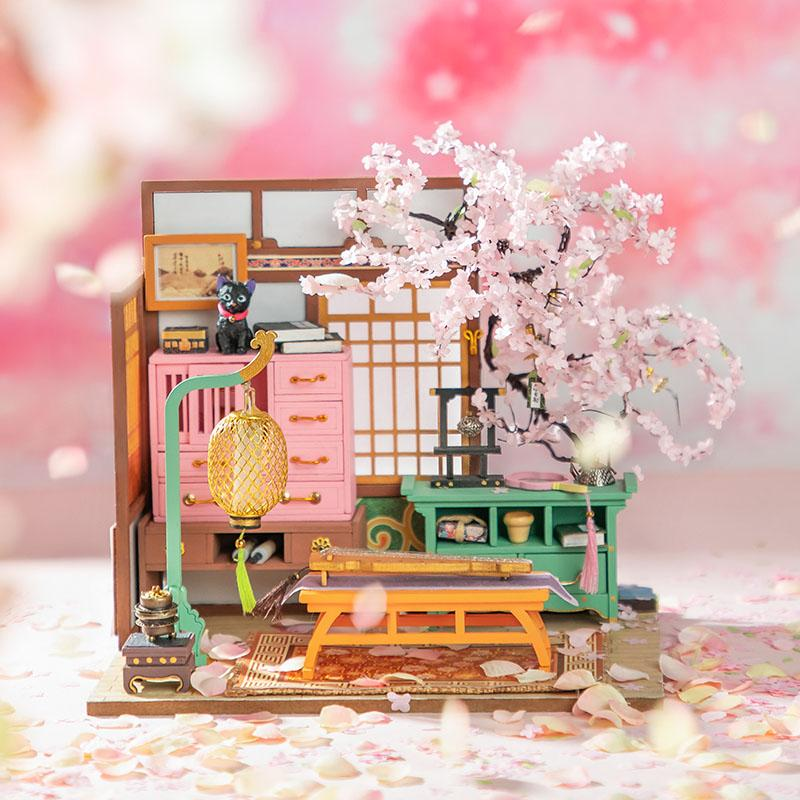Rolife Sakura Pavilion SN999 DIY Miniature Dollhouse (Including Blind Box)