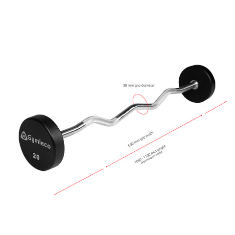 825C Gymleco Fixed Barbell Curl - Gymleco Nederland