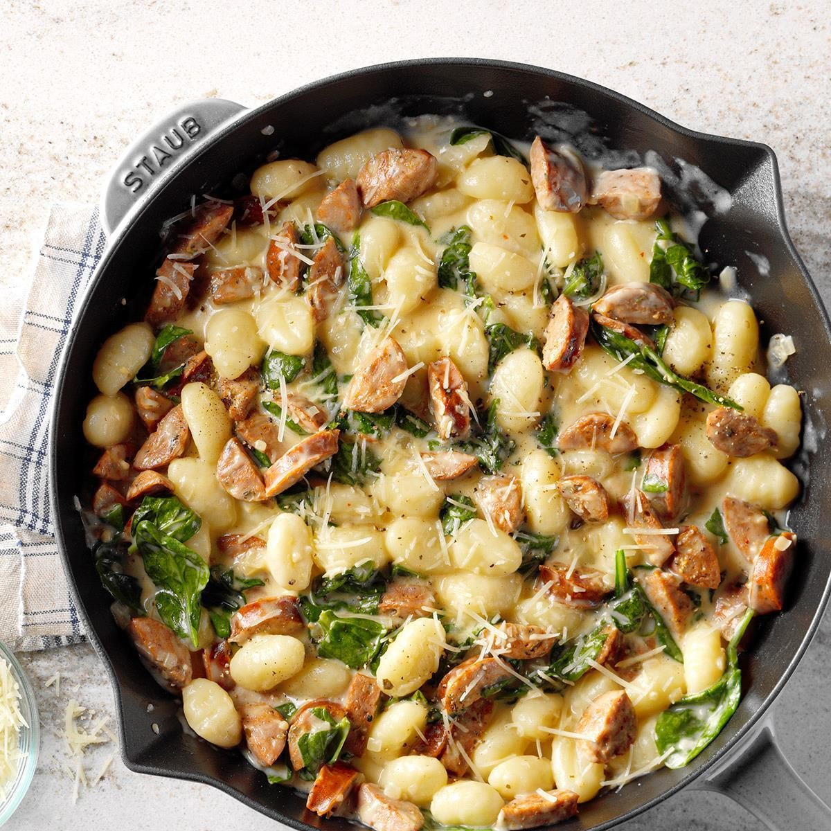 Gnocchi with Spinach and Chicken Sausage Recipe