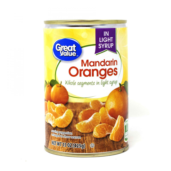 Great Value Mandarin Oranges in light syrup 425 G