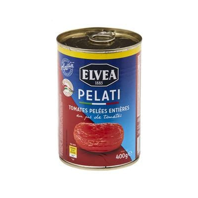 Elvea Whole Peeled Tomatoes 400g
