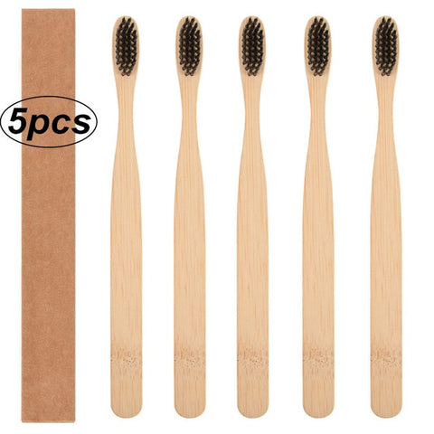 Image of Natural Bamboo Soft Bristle Toothbrush