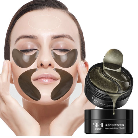 Image of Hydrogel Wrinkle Remover Black Pearl Eye Patches