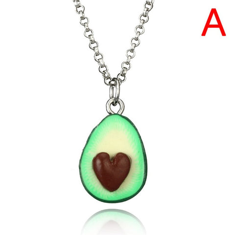 Avocado Pendant Heart Best Friend Necklace