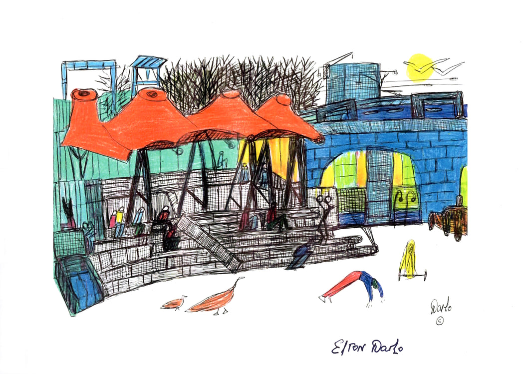 'Castlefield Bowl' A4 hand signed print