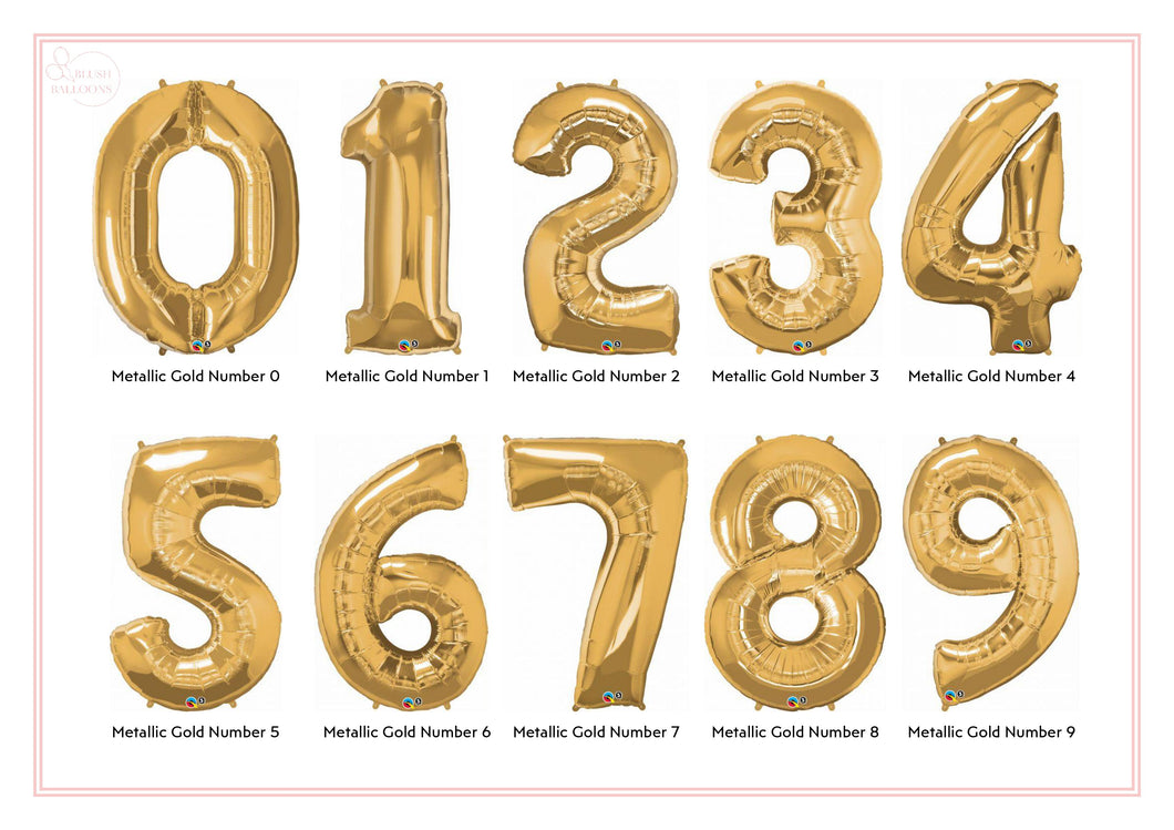 Metallic Gold Number