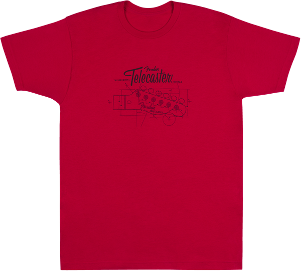 CAMISETA FENDER TELE® BLUEPRINT (L)