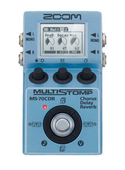 PEDAL ZOOM MS-70CDR MULTI STOMP GUIT Y BAJO