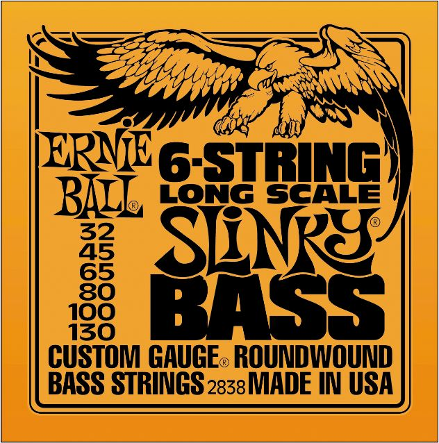 Encordado Ernie Ball 6 cuerdas Bajo escala larga Slinky 2838 32 13