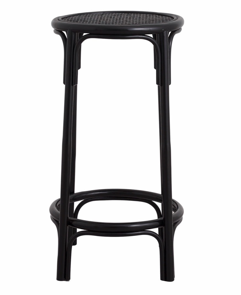 NEN bar chair, black rattan