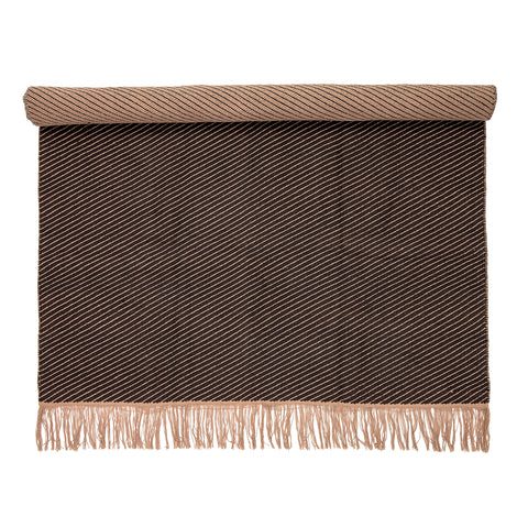 Rug Tribe, Brown-Stripes, Cotton