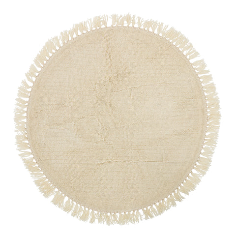 Rug Wool Ball, Rounded D 110, Nature, Wool