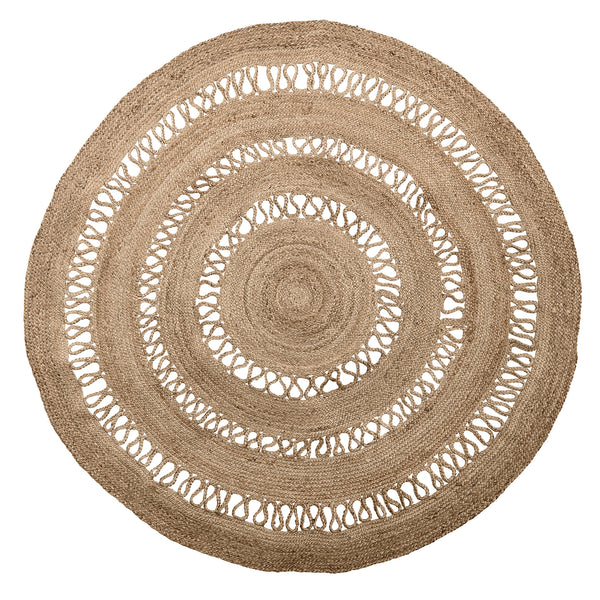 Rug Boho, Rounded D 182, Nature, Jute