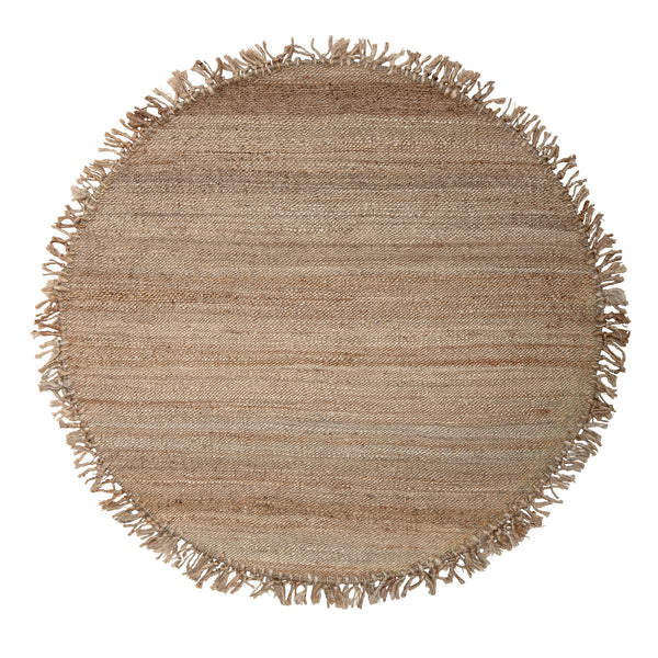 Rug Vanilla Ball, Rounded D 150, Nature, Jute