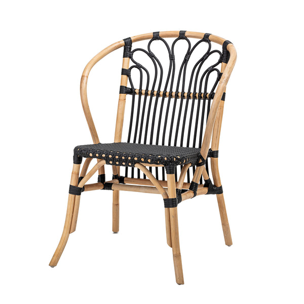 Maila Dining Chair, Black, Rattan