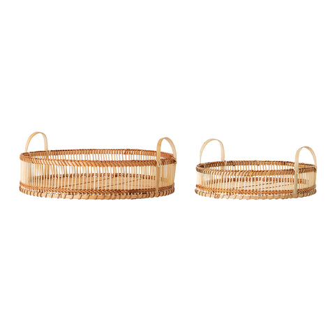 Salle Tray Set of 2, Nature, Bamboo