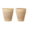 Big Baskets Set of 2, Seagrass, D 40 x H 50 / D 50 x H 50 cm
