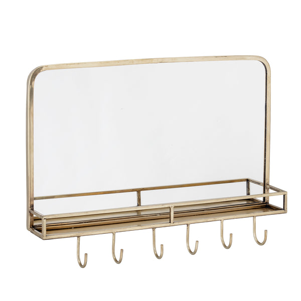 Mirror / Shelf, Brass, Metal