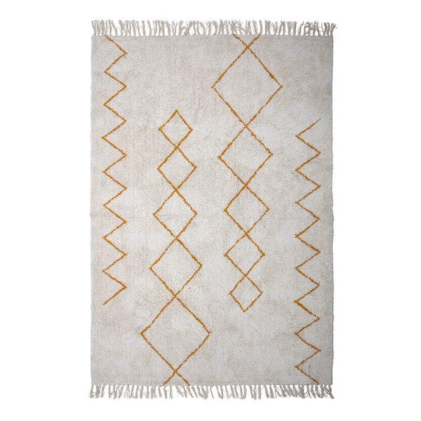 Rug Yellow Pyramid, Cotton