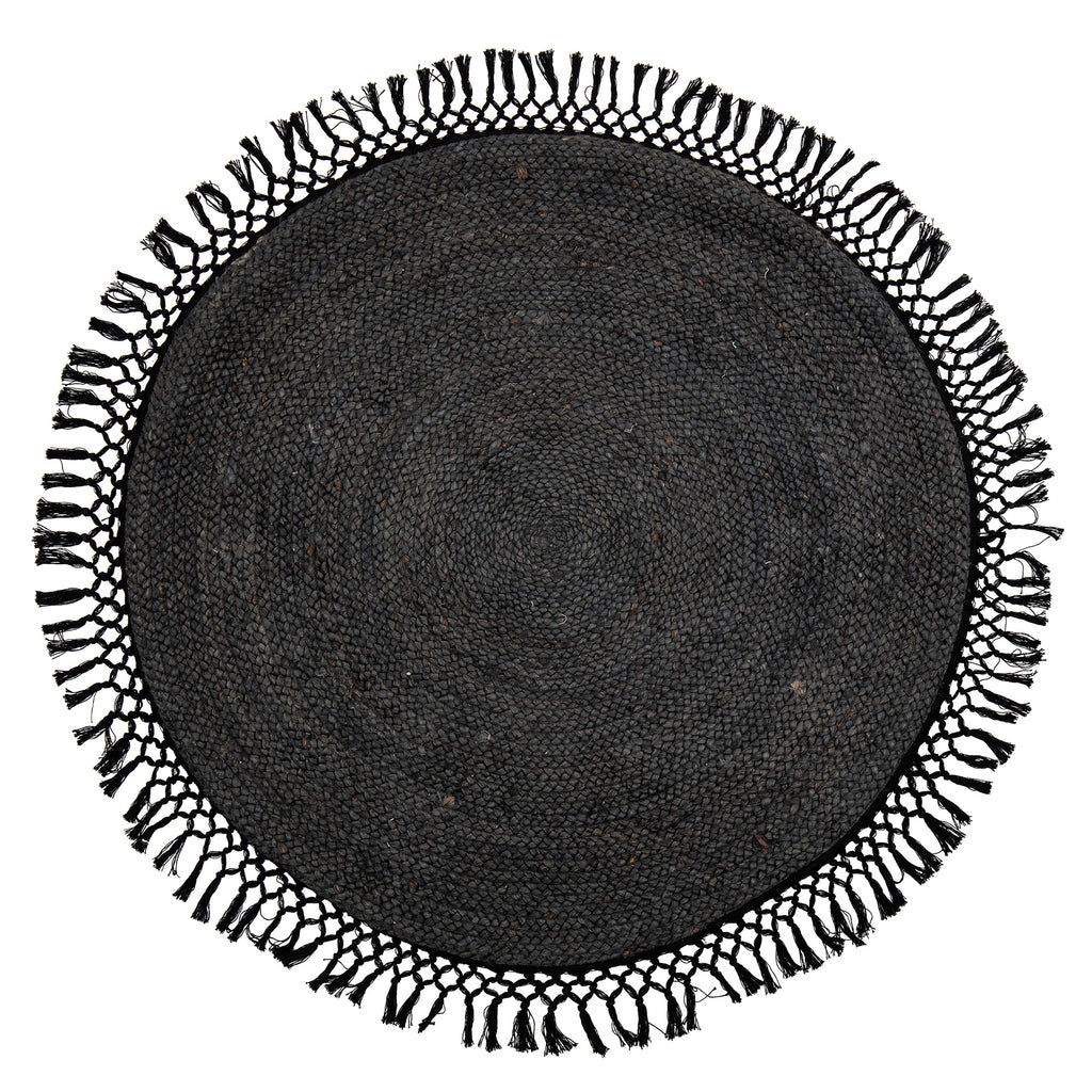 Rug Black Moon, Rounded D 122, Jute