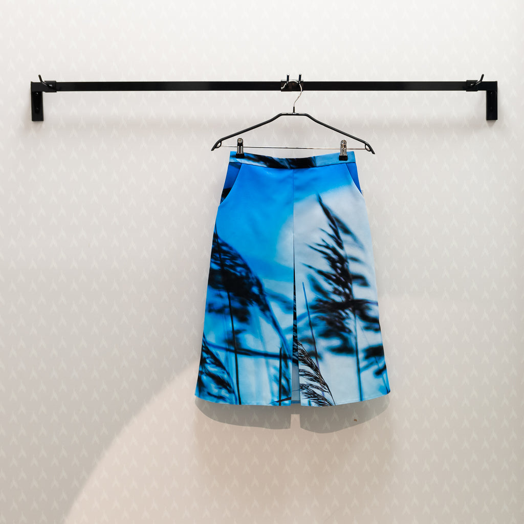 Skirt Midi with Pockets, Indigo