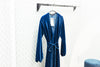 Velvet Wrap Midi Dress, Blue