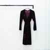 Velvet Wrap Midi Dress, Purple