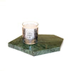 Green Marble Plate /Candle Holder