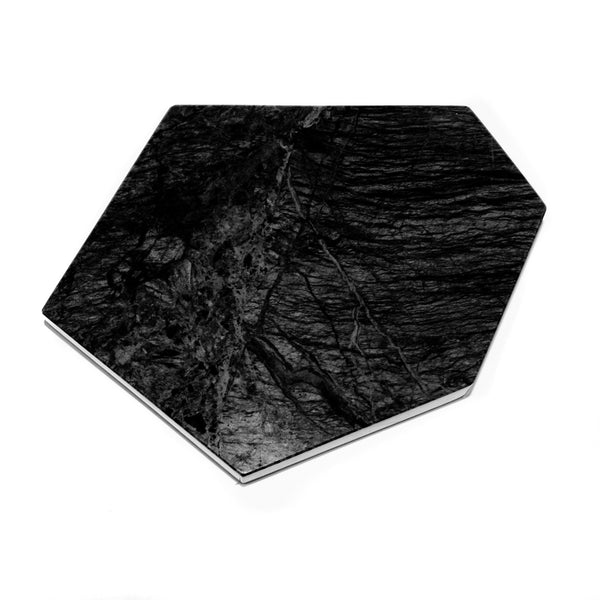 Black Marble Plate /Candle Holder
