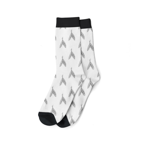 Socks, Valhalla Feather Black & White
