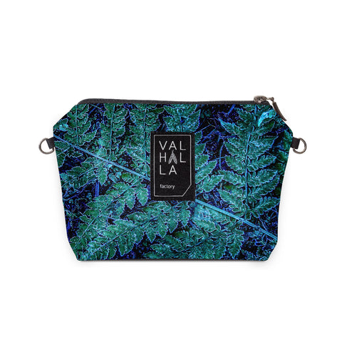 200. Pouch Carry all / Cosmetic bag, Ice fern