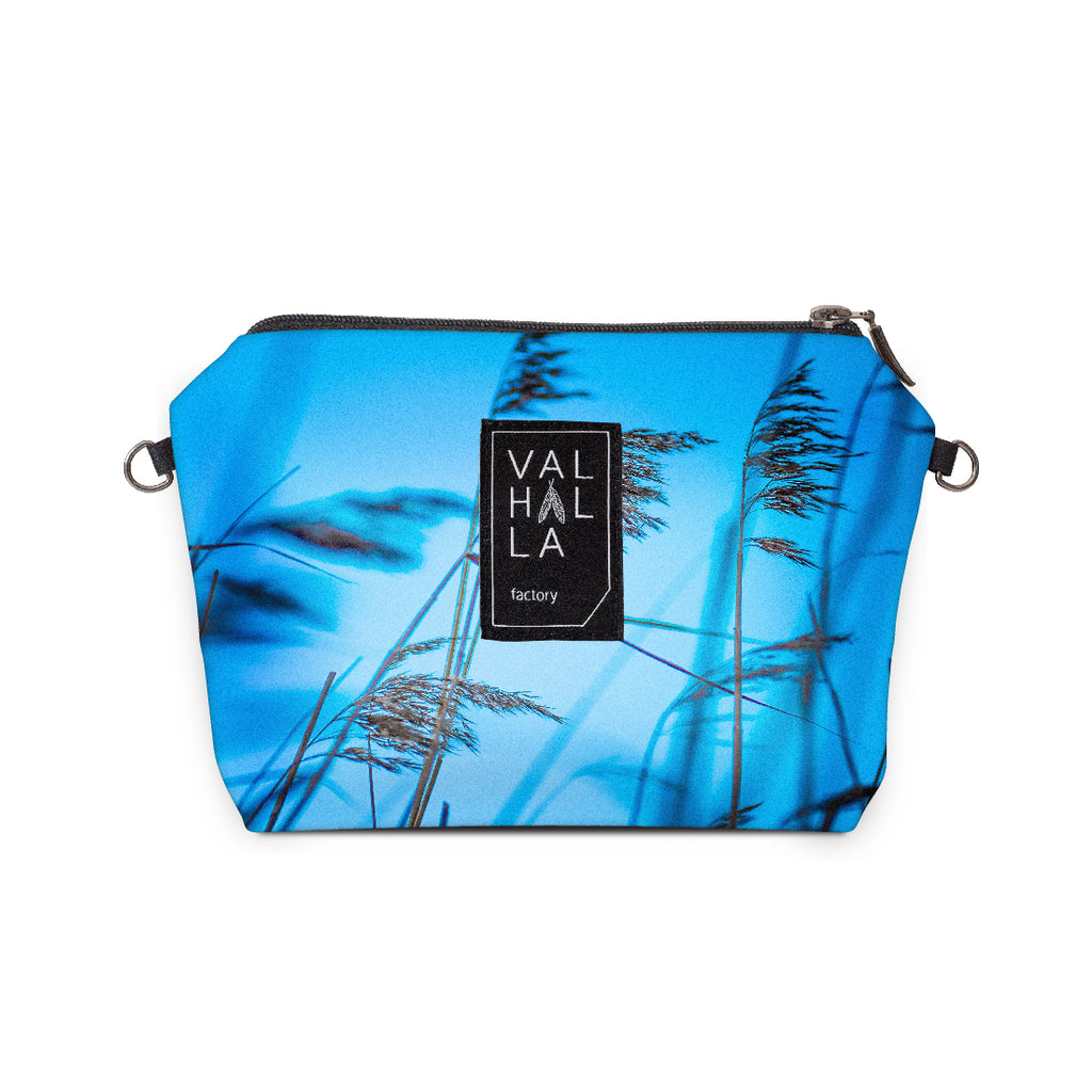 160. Pouch Carry all / Cosmetic bag, Indigo love