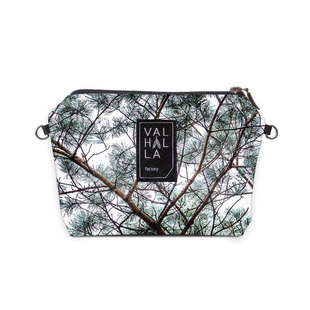 190. Pouch Carry all / Cosmetic bag, Silvergreen