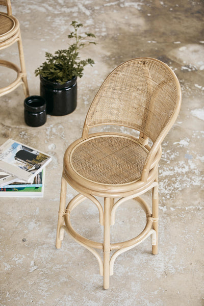 BALI bar chair, rattan/weaving, natural