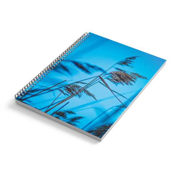 Spiral Notebook A4, Indigo Love