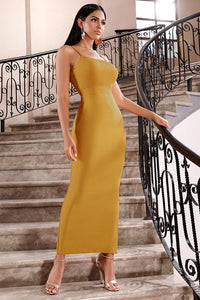 Designer Bandage Yellow Dress