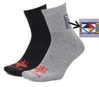 Hiking - Theme of Four Symbol - Moderate Cushion - Quarter Socks