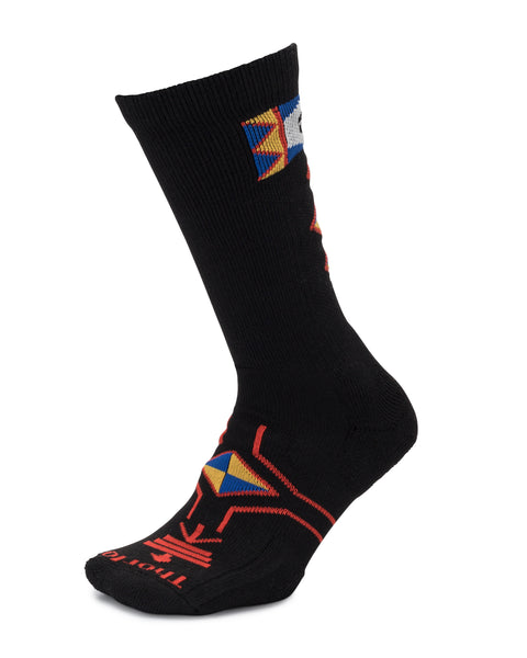 Hiking - Buffalo Symbol - Moderate Cushion - Crew Socks