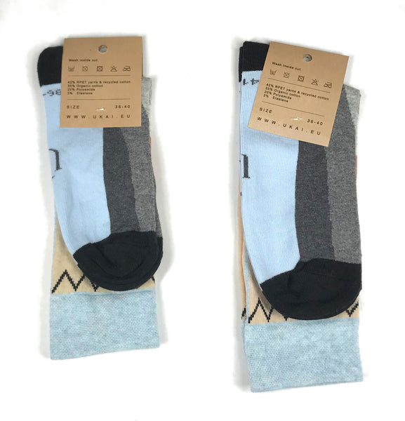 Socks with a knitted pattern