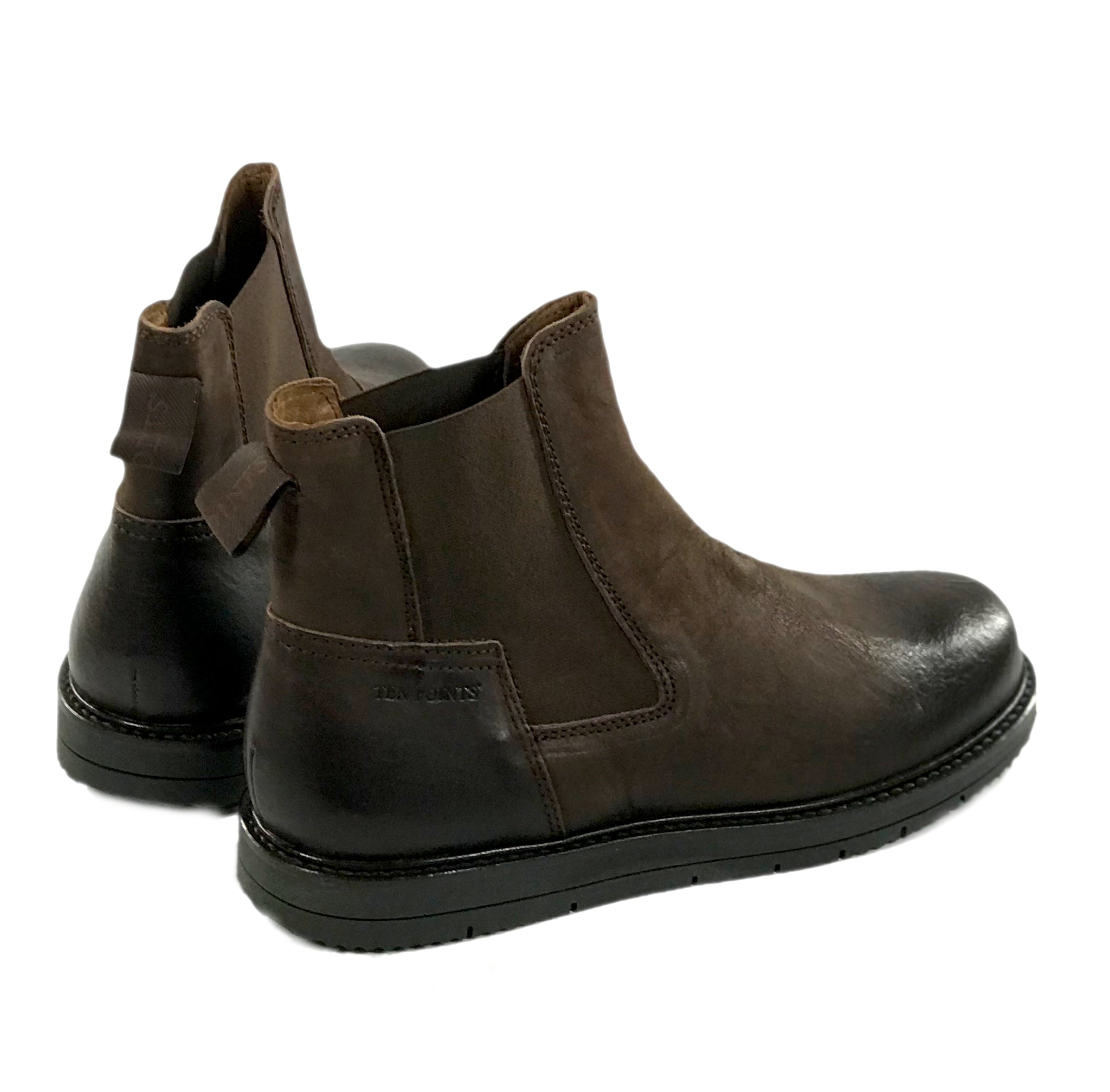 Chelseas Carina, lined with leather, dark brown