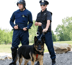 Two officers with their K9 partner