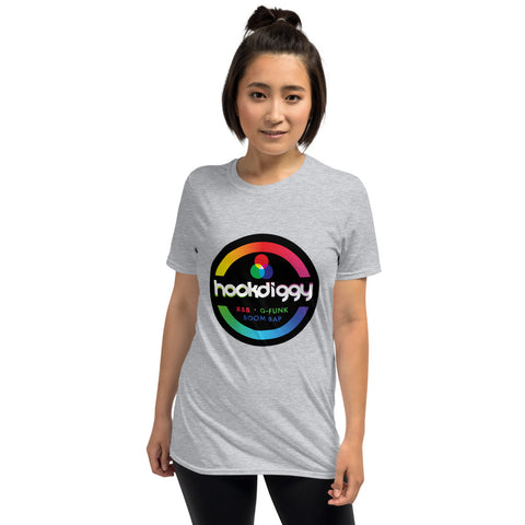 Hookdiggy RGB Music Artist Unisex T-Shirt - Grey