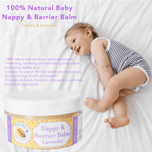 Load image into Gallery viewer, 100% Natural Nappy & Barrier Balm Honey & Lavender 100ml.