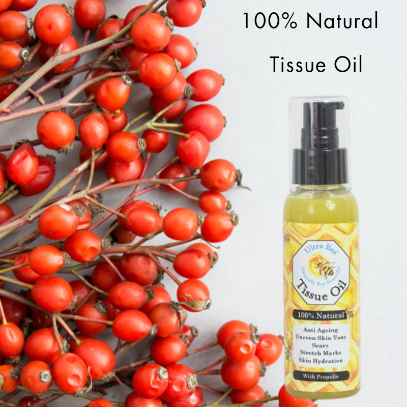100% Natural Skin Tissue Oil - Rosehip, Calendula , Rose Geranium, Neroli 100ml