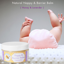 Load image into Gallery viewer, 100% Natural Nappy & Barrier Balm Honey & Lavender 100ml