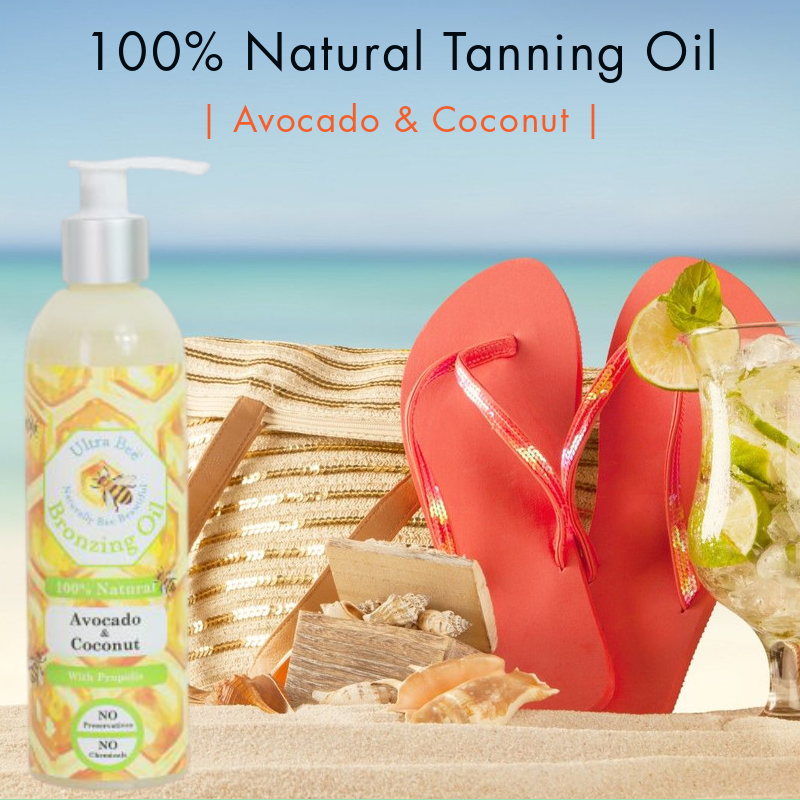 100% Natural Tanning Oil - Avocado & Coconut 250ml