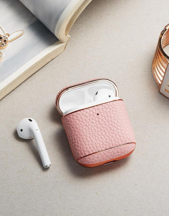 Litchi Pattern Leather Case For Apple Airpods 1 & 2