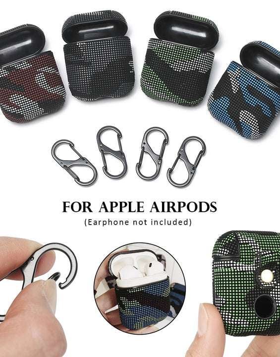 Camouflage Wireless Charge Leather Earphone Case For Apple Airpods 1& 2